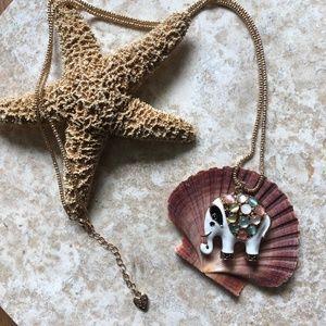 [NWOT] Betsey Johnson White Elephant Necklace